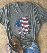 AMERICAN CHIEF HEATHER CHARCOAL VNECK TSHIRTS 8PK $60