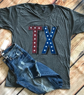 MARQUEE TX HEATHER CHARCOAL VNECK TSHIRTS 8PK $60