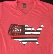 BACK THE RED  VNECK HEATHER RED TSHIRT 8PK $60.00