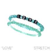 LOVE BLOCK LETTER BRACELET SET #8348MAL $2.50