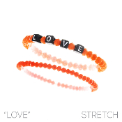 LOVE BLOCK LETTER BRACELET SET #83480HY $2.50