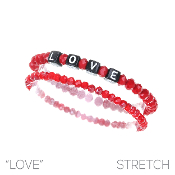 LOVE BLOCK LETTER BRACELET SET #83480SI $2.50