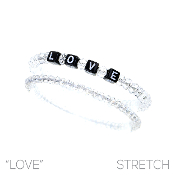 LOVE BLOCK LETTER BRACELET SET #8348CR $2.50