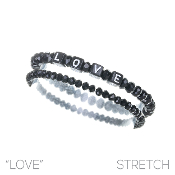 LOVE BLOCK LETTER BRACELET SET #8348BLK $2.50