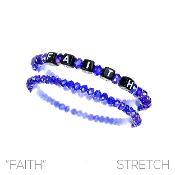 FAITH BLOCK LETTER BRACELET SET #83479SA  $2.50
