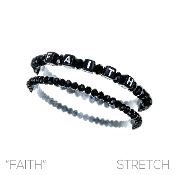FAITH BLOCK LETTER BRACELET SET #83479JT  $2.50