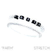 FAITH BLOCK LETTER BRACELET SET #83479CR  $2.50