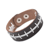 FOOTBALL LEATHER SNAP BRACELET #83435STO-S $3.00