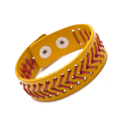 SOFTBALL LEATHER SNAP BRACELET #83436JO-S $3.00