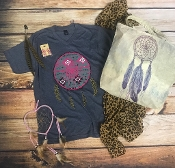 LEOPARD DREAMS VNECK SHIRT $60 PER 8PK