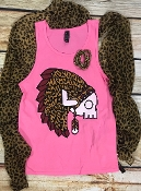LEOPARD SKULL HOT PINK TANK TOP  8PK $60