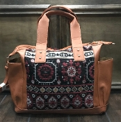 AZTEC BLANKET HANDBAG #HD3220 BURGUNDY