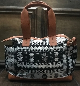 AZTEC BLANKET HANDBAG #HD3219 BLACK
