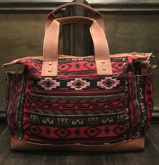 AZTEC BLANKET HANDBAG #HD3219 RED