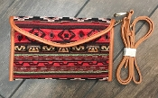 AZTEC BLANKET CROSS BODY HANDBAG #HD3221 RED