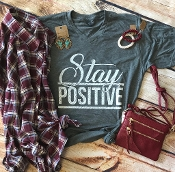 STAY POSITIVE HEATHER CHARCOAL VNECK TSHIRT 8PK $60.00