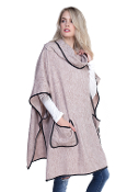 TURTLE NECK POCKET PONCHO WITH POCKETS #MSV0005TP