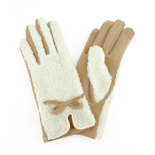 SHERPA AND LEATHER GLOVES #MG0022TP $6.50