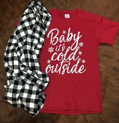 BABY IT'S COLD OUTSIDE RED TSHIRTS 8PK $48