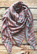 STRIPED BLANKET SCARF #NSF-2101PINK $5.75