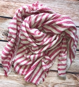 STRIPED BLANKET SCARF #NSF-2101BRPINK $5.75