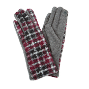 MULTI COLOR PLAID SMART TOUCH GLOVES #MG0016GREY $6.50