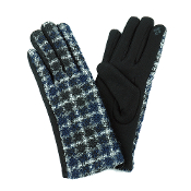 MULTI COLOR PLAID SMART TOUCH GLOVES #MG0016BLACK $6.50