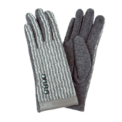 WAVE PATTERN SMART TOUCH GLOVES #MG0014GREY $6.50
