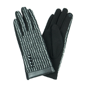 WAVE PATTERN SMART TOUCH GLOVES #MG0014BLACK $6.50
