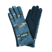 COLORFUL POPCORN SMART TOUCH GLOVES #MG0015NAVY $6.50