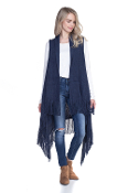 FRINGE KNIT SWEATER VEST #MSV0006NAVY