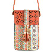 AZTEC CELLPHONE CROSSBODY BAG #MB0023BR $5.00