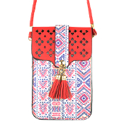 AZTEC CELLPHONE CROSSBODY BAG #MB0023RD $5.00