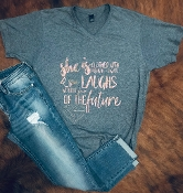 PROVERBS 31 HEATHER NAVY VNECK TSHIRTS 8PK $60