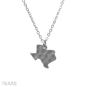 HAMMERED TEXAS PENDANT NECKLACE #16327-SILVER