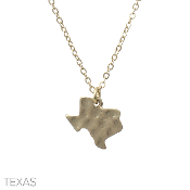 HAMMERED TEXAS PENDANT NECKLACE #16327-GOLD