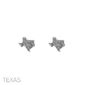 HAMMERED TEXAS POST EARRINGS 24803-SILVER