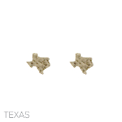 HAMMERED TEXAS POST EARRINGS 24803-GOLD