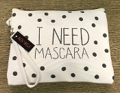 I NEED MASCARA MAKEUP BAG #BG362X003  $4.50