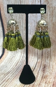 TASSEL POST EARRINGS #AE1896-GOLV $4.75