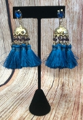 TASSEL POST EARRINGS #AE1896-GNBL $4.75