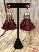 TASSEL POST EARRINGS #AE1896-GBGD $4.75