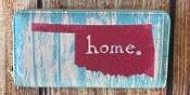OKLAHOMA HOME ZIPPER WALLET #WT377X041