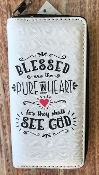 BLESSED ARE THE PURE IN HEART ZIPPER WALLET #WT326X293