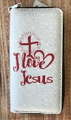 I LOVE JESUS ZIPPER WALLET #WT326X294
