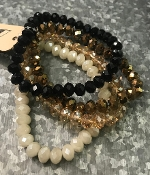 4PC CRYSTAL BRACELET SET #SB-0910MUL3 $5.00