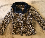 FLEECE LEOPARD COATS #LEOPARD COAT $90 6PK