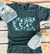 SNOWFLAKE OK CHARCOAL V NECK SHIRTS 8PK $60