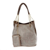 RHINESTONE HANDBAG WITH POUCH #HD2477TP $24.50