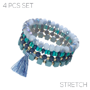 4PC SET BRACELET #83540-IN-G